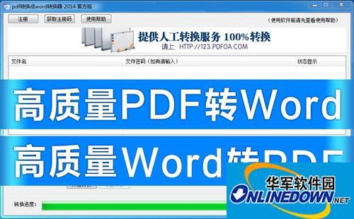 PDF转换成WORD转换器软件 2014官方免费版下载