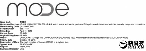 谷歌新商标MODE曝光:亲儿子智能手表来了!