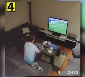 看欧洲杯遭女友调戏:男子暴怒手撕苹果电脑