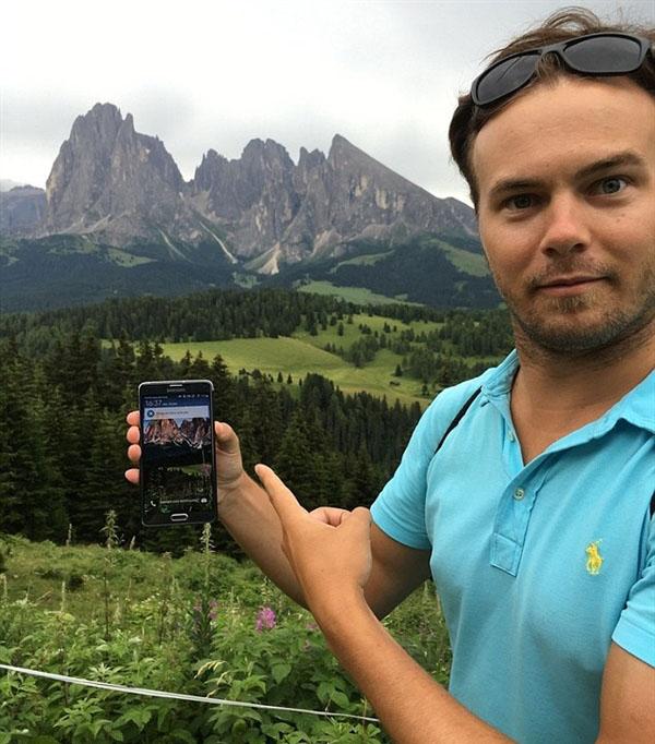 男子旅游意外发现手机屏保拍摄地点