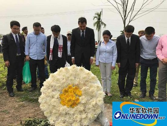 中国驻印度大使赴阿萨姆邦祭扫第二次世界大战中国军人公墓