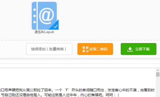 迅捷在线转换工具将epub转换成txt的方法525.png