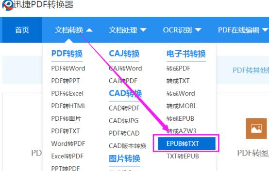 迅捷在线转换工具将epub转换成txt的方法304.png