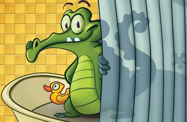 小鳄鱼爱洗澡