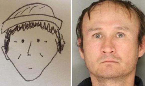 """像不像?""""超简约""""素描照助美警方锁定嫌犯"""