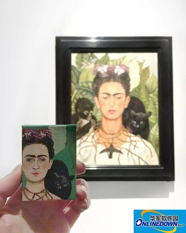 她专爱画迷你版世界名画,最爱梵高莫奈!
