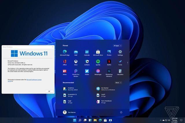 Windows 11上手初体验:任务栏和开始菜单等迎来大改