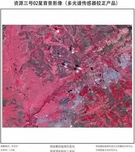 资源三号卫星02星发射1天传回影像图:高德百度地图受益