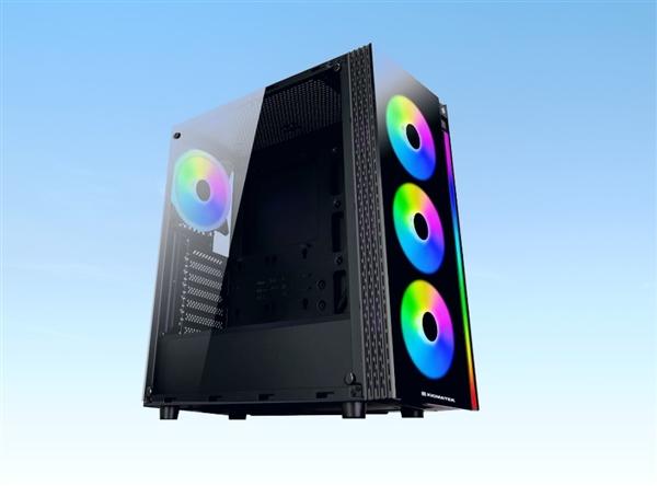 XIGMATEK推出全新机箱Poseidon RGB:预装4个RGB风扇