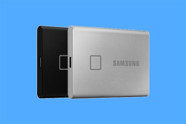 指纹加持 三星上架移动固态硬盘T7 Touch:1050MB/s 1099元