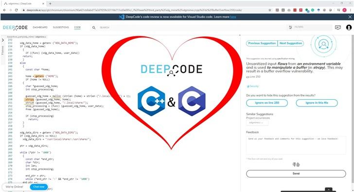 代码审查DeepCode为CC++添加AI静态代码分析支持