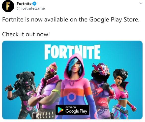 """《堡垒之夜》正式登陆谷歌Play商店:Epic""""忍辱""""支付30%抽成"""