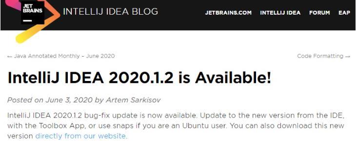 支持 Java 14 之后,Java 开发工具 IntelliJ IDEA 2020.1.2 发布