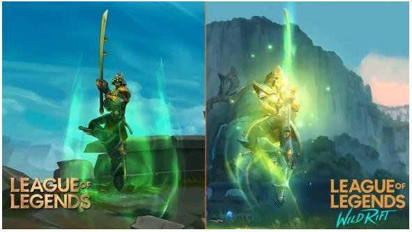 《英雄联盟》手游 / 端游模型对比:手游细节更加出众