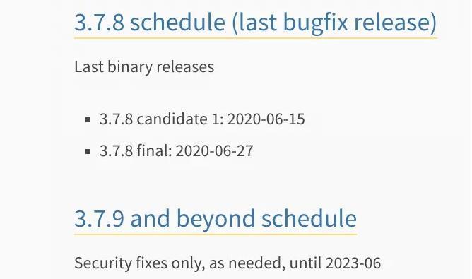 Python 3.7.8 与 3.6.11 正式发布