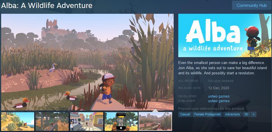 纪念碑谷团队新作《Alba: A Wildlife Adventure》将于12月12日上线iOS/PC