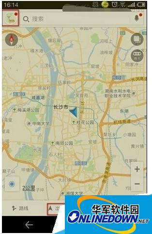 高德地图导航页面