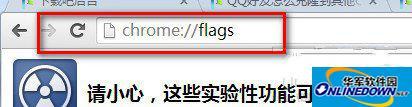 输入chrome://flags