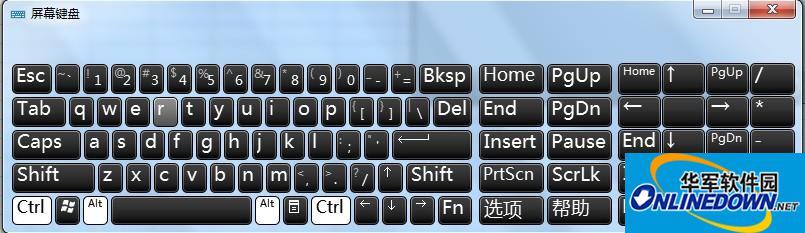 Numlock键切换