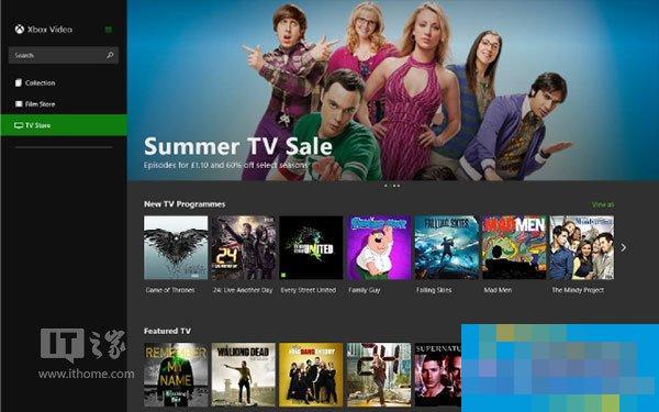 Win8.1商店迎升级版Xbox Video,新界面体验