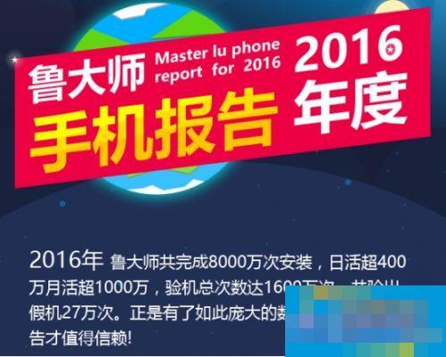 鲁大师2016年手机性能榜:华为Mate9逆天夺冠
