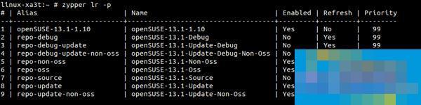 SUSE Linux系统中zypper命令用法汇总