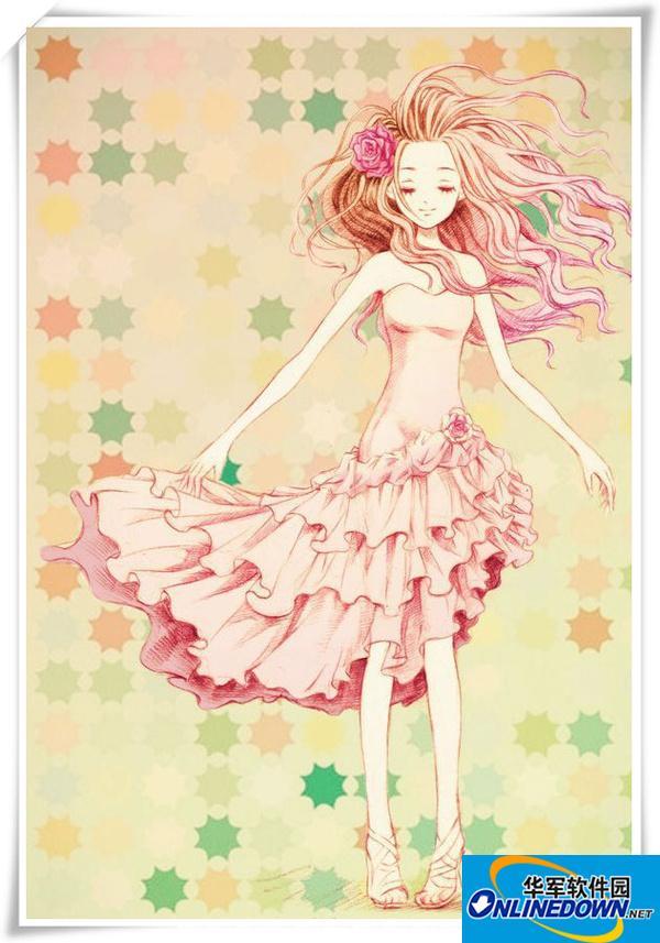 个性网QQ皮肤:手绘可爱卡通女孩QQ皮肤
