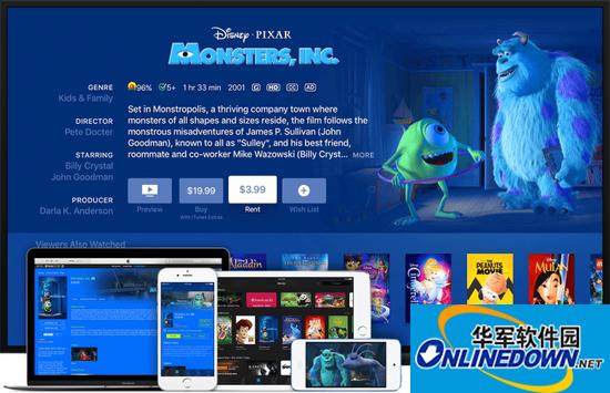 iTunes 12.6 发布:支持跨设备电影租借观看