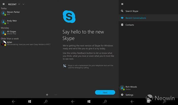 Win10 Mobile Skype UWP预览版下载泄露:需手动安装