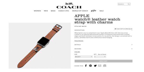 买不起爱马仕版Apple Watch,那Coach版呢?