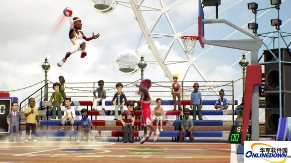NBA游乐场盖帽小技巧