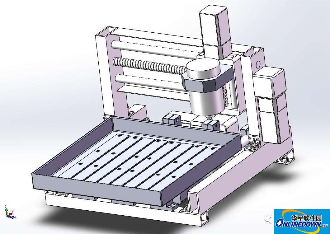 【工程機械】F11三軸聯動數控雕刻機3D模型 Solidworks設計