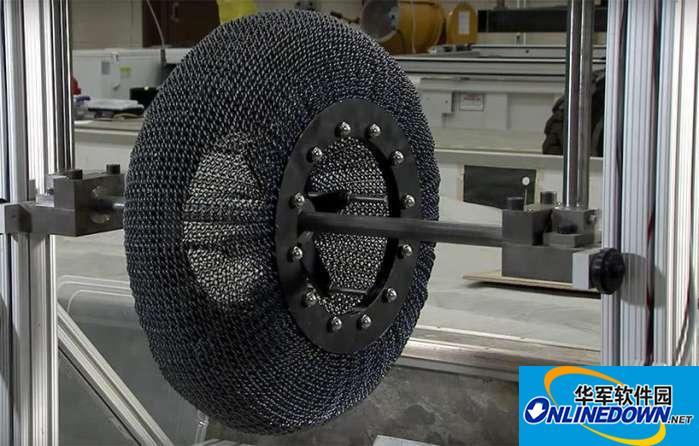 弹簧轮胎, 要取代充气轮胎? NASA为火星设计的超弹性轮胎