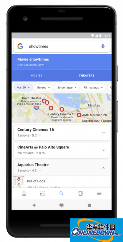 Google移动搜索应用更新:能快速挑选自己喜欢的电影