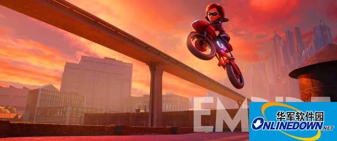 《超人总动员2》全新概念图 超人太太上演飚车大戏
