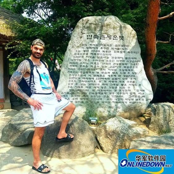 生活悠闲!亚当斯在韩国乡村度假