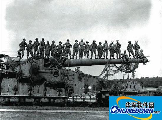 二战时德国巨炮威力巨大 一炮摧毁十米混凝土弹药库