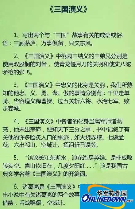 学霸都在偷偷学:初中语文四大名著知识要点总结,中考复习必备