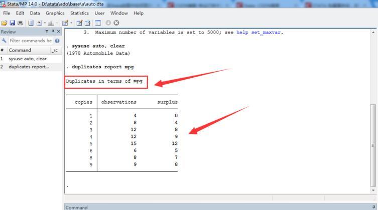 Stata如何检查重复数据?