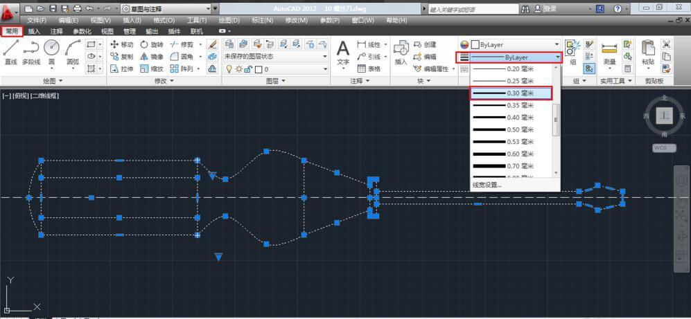 AutoCAD2012:[11]如何设置线形和线宽