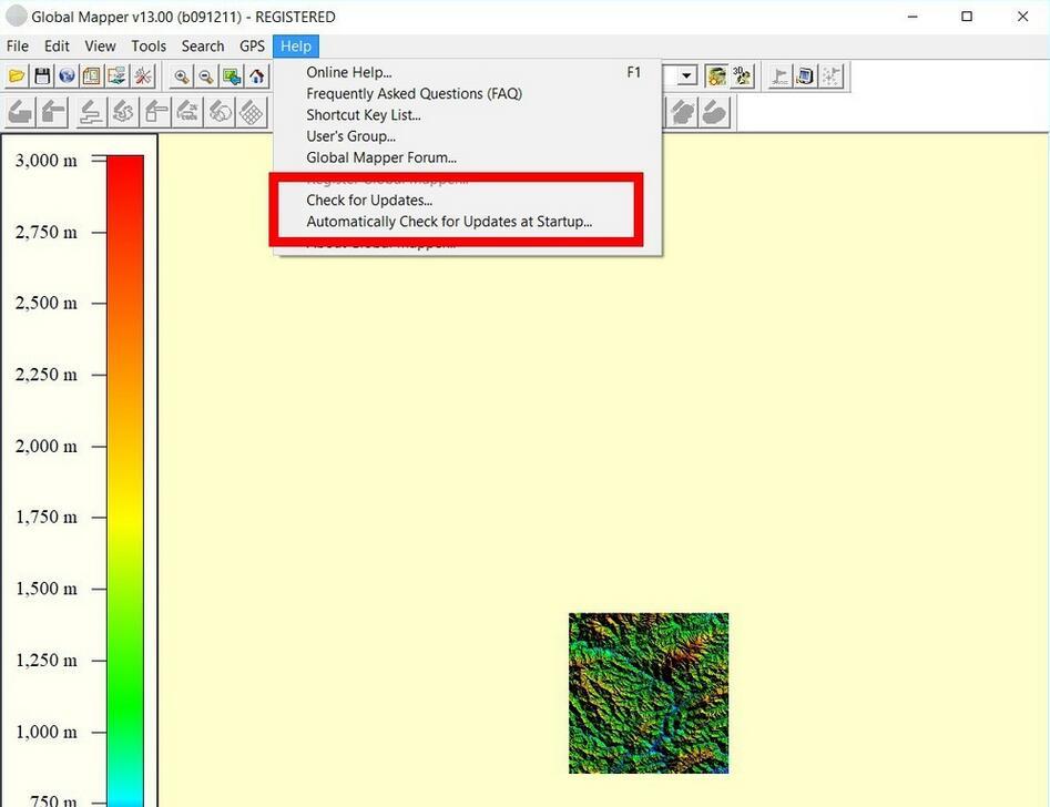 Global Mapper 调节背景颜色