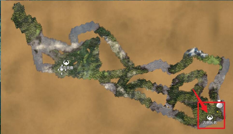 英灵神殿黑暗林山在哪里