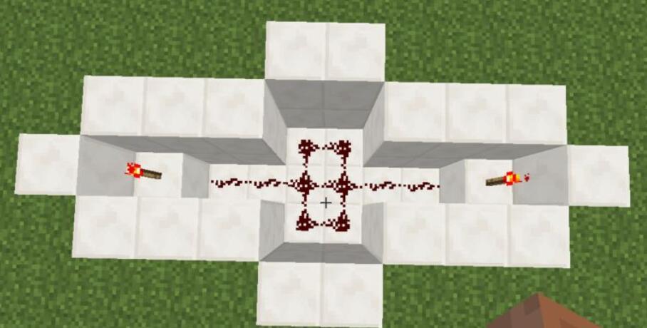 我的世界最简易红石自动门