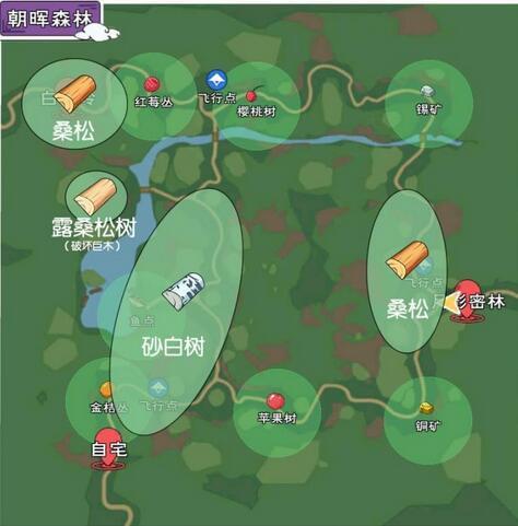 小森生活树木资源获取位置大全