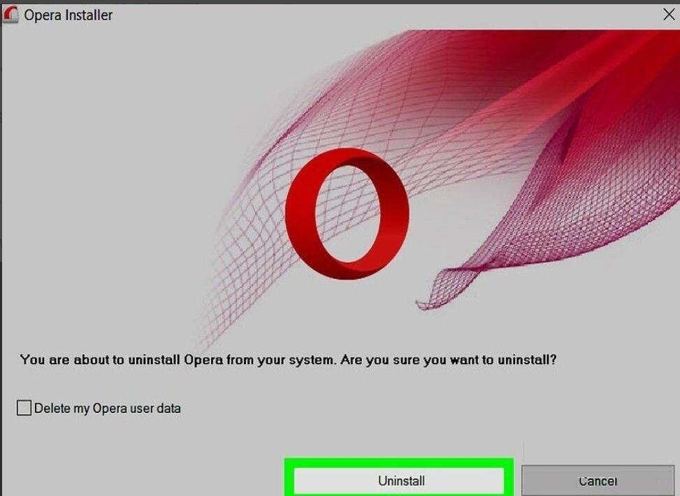如何卸载Opera