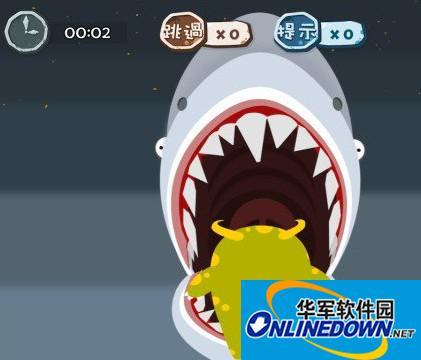 100种蠢蠢的死法56关帮助大白鲨吃掉小怪物