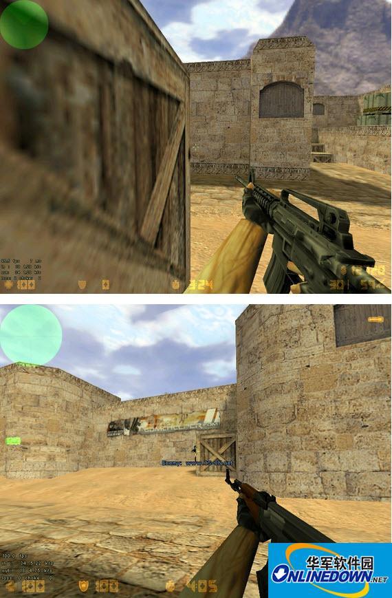 反恐精英CS1.5闪光弹破点与拉枪