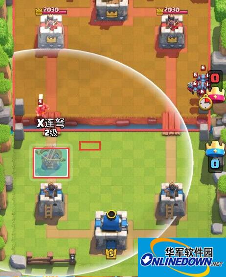 皇室战争X连弩位置怎么摆放 X连弩防御位置摆放技巧
