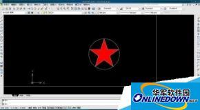如何用AutoCAD用圆、线和正多边形工具画平面五角星