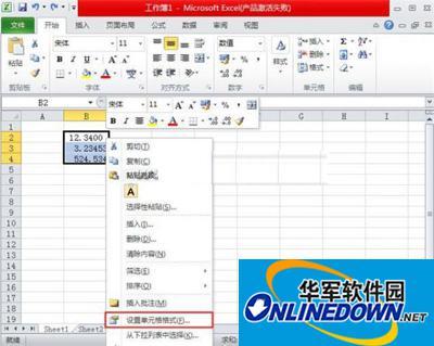 Excel2010:数值格式的设置